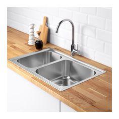 BOHOLMEN Double-bowl inset sink  - IKEA