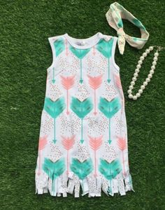 Mint PINK Arrow Fringe Dress #boutique-outfits #dresses #new #perfect-sets