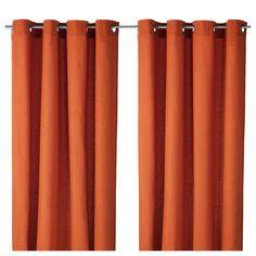 "MARIAM Curtains, 1 pair - IKEA $20 Pair, Orange  Buy 2 pairs.  57"" x 98"" - Option for Living Room"