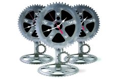 bicycle part clocks | Recycled Bike Parts Desk Pendulum Clock: