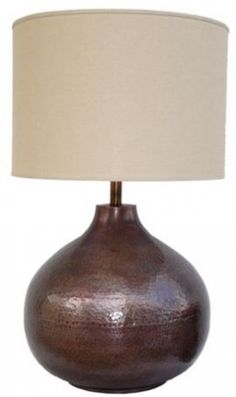 Bis Hammered Copper Table Lamp - In 3 Colours | Complete Pad