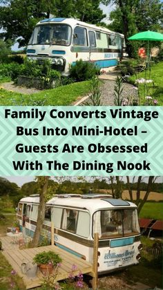 #Family #Converts Vintage Bus Into Mini-#Hotel – Guests Are #Obsessed With The Dining #Nook Online Shopping Fails, Tattoo Fails, Cute Funny Babies, Disney Princess Pictures, Diy Porch, Hotel Guest, Best Places To Travel, Cool Places To Visit, Aesthetic Indie