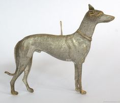 Sliver gilt greyhound Dresden, Margrit Utz