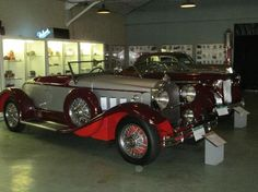 Beautiful car in the showroom of the Packard Museum in Dayton ...