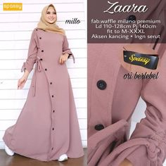Order or more info : WA : 085956174253 . Hijab Style Dress, Hijab Look, Iranian Women Fashion, Islamic Fashion, Abaya Fashion, Fashion Outfits, Muslim Long Dress, Moslem Fashion, Modele Hijab