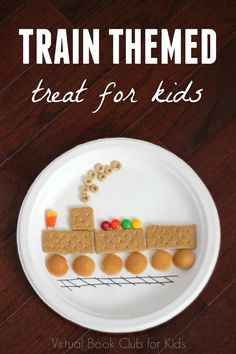 Train Themed Treat for Kids Transportation Activities, Train Activities, Toddler Activities, Toddler Themes, Toddler Meals, Kids Meals, Preschool Snacks, Train Crafts Preschool, Trains Preschool