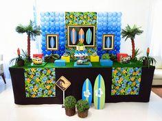 Farolita Decoração de Festas Infantis: SURF