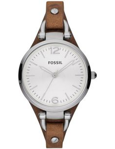 Fossil Women s ES3060 Georgia Three Hand Tan Leather Strap Watch Women s  Watches a7af04d1516