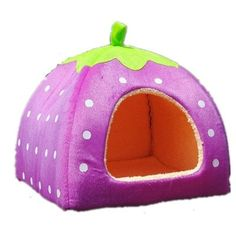 Leegoal Soft Sponge Strawberry Small Cotton Soft Dog Cat Pet Bed House XL Size by Pet house ** For more information, visit image link. (Note:Amazon affiliate link)