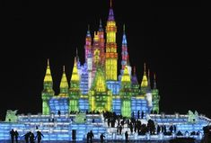 Mindblowing Ice Sculputes and the World's Largest Father Christmas - 25th Harbin International Ice and Snow Festival: China