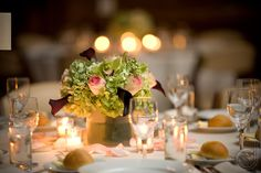 www.jenniferdavisphotography.com #haroldpratthouse #wedding #centerpiece