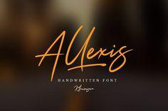Allexis Signature Script Font  @creativework247
