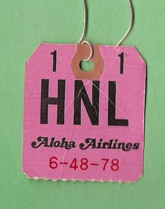 Vintage airline luggage tag. Photo by MR38.