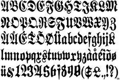 Old German Font - Bing Images