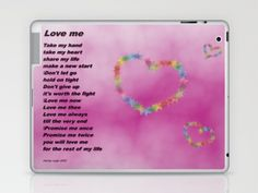 Love Me Laptop & iPad Skin by Christy Leigh - $25.00