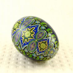 Made to order -Spanish Tile -Cools -A Pysanky Goose egg on Etsy, $49.00