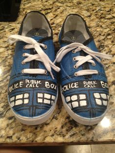 Dr. Who Tardis Shoes on Etsy? Ooorrr I'll paint them myself :)