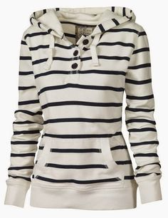 Comfy Stripes Fall Hoodie. If the stripes were reversed so, all black with the white lines it would be just perfect