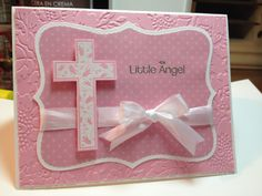 This is a Christening Card for my great-niece, Kendall.  It uses an old Stampin Up set, Special Blessings, and a not-as-old-set, Little Angel.