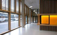 Hall d'accueil en fin de journée (Photo Noëlle Hoeppe)