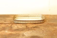 Vintage Vanity Filigree Mirror Tray Rounded by forgottenPLUM