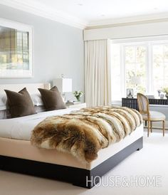 """""""Faux fur blankets are my secret to staying warm — and stylish — when the temperature drops. They look so luxurious when draped on a sofa or bed, and add a hit of rustic charm that's incredibly inviting.""""—Adena Leigh, Web Editor 