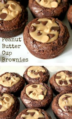 Peanut Butter Cup Brownies is part of Desserts Peanut Butter Cup Brownies! Pull out your favorite boxed mix brownies and make this delicious, peanut buttery, chocolate treat in no time! Peanut Butter Cup Brownies, Peanut Butter Desserts, Chocolate Chip Cookie Dough, Chocolate Chips, Chocolate Peanut Butter Cupcakes, Peanut Cookies, Dark Chocolate Brownies, Chocolate Box, Mini Desserts