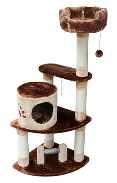 Kitty Mansions Florence Cat Tree, Brown/Beige * Remarkable product available now. (This is an amazon affiliate link. I may earn commission from it)