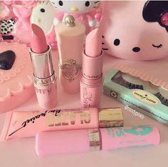 Imagem de pink and makeup