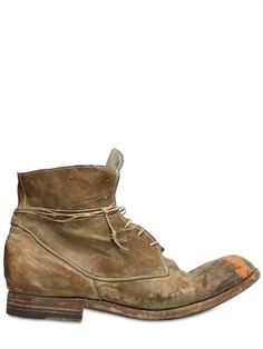 Officine Creative - 20mm Washed Vintaged Laced Low Boots. Excellent ;-)