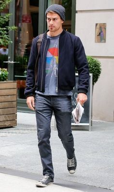 Theo James Photos: Theo James Steps Out in NYC