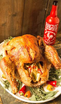 This spicy Cajun Sriracha Beer Injected Turkey is the juiciest bird you can make.