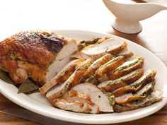 Herb Roasted Turkey Breast with Pan Gravy recipe from Rachael Ray via Food Network