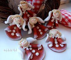 Miko?ajkowo :) Salt Dough Crafts, Salt Dough Ornaments, Salt Dough Christmas Decorations, Diy Christmas Ornaments, Paper Clay, Clay Art, China Dinnerware Sets, Christmas Clay, Xmas