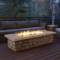 "Sedona 66"" Rectangle LP Gas Fire Table with Natural Gas Conversion Kit"