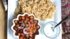Pressure Cooked Chickpea Curry with Brown Rice (one pot meal) - hip pressure cooking