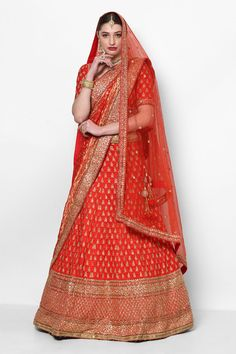 Beautiful red bridal lehenga by Sabyasachi #Frugal2Fab