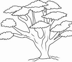 Sketches Of People And Trees Coloring Pages Tree Sketches, Sketches Of People, Outline Pictures, Pictures To Draw, Tree Coloring Page, Coloring Pages, Love Drawings, Art Drawings, Drawing Techniques