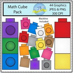 Math Cubes (JB Design Clip Art for Personal or Commercial Use) Number Writing Practice, Writing Numbers, Math Clipart, Counting Bears, Free Math, Math Activities, Classroom Decor, Maths, Cubes