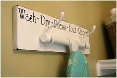 I am going to make this for my laundry room.
