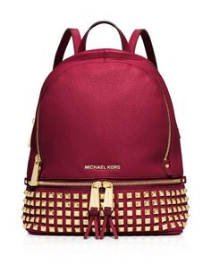 f2f74fe25c98 MICHAEL Michael Kors Small Rhea Zip Studded Backpack EDITORIAL - Shop The  Edit - Shop All - 100% Women s Accessories - Bloomingdale s