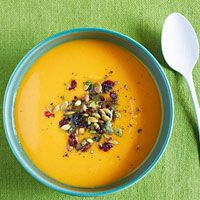 Roasted Carrot, Squash and Sweet Potato Soup... can't wait for fall soups!