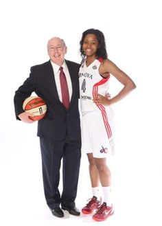 Coach Thibault and Rookie Tayler Hill