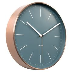 Buy Karlsson Minimal Copper Clock - Blue from our Wall Clocks range at Red Candy, home of quirky decor. Thomas Kent Clocks, Kitchen Diner Lounge, Basement Colors, Quirky Decor, Metal Clock, Wall Clock Design, Blue And Copper, Red Candy, Accent Pieces