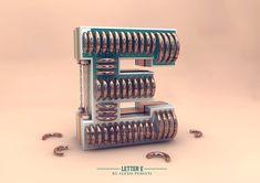 Futuristic Design Alphabet by Alexis Persani – Fubiz Media