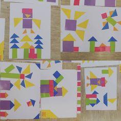 Hier nochmal ein paar Nahaufnahmen. Ganz süß fand ich natürlich, dass das Klassentier Eli Eule nachgebaut wurde 😍 #Geometrie #anfangsunterricht #klasse1 #Kunst #froileinskunterbunt