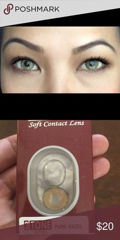 Pure Hazel Colored contact lens Non prescription. I'm an authorized retailer and we sell these in our store. Check us out for other colors. When it comes to your eyes buy them from authorized stores. Special Effect Contact Lenses, Soft Contact Lenses, Coloured Contact Lenses, Hazel Color, Cosplay Contacts, Halloween Contacts, Dark Brown Eyes, Colored Contacts, Things To Come