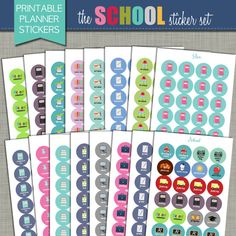 Pretty up your favorite calendar or planner pages with our brand new {Printable} Planner Stickers! All of our sticker sets are designed to be School Sets, Last Day Of School, Printable Planner Stickers, Printables, Calendar Stickers, Summer Planner, Crochet Quilt, Planner Pages, That Way