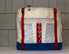 Striped Bag Sail Bag Travel Bag Beach Bag by Hoist Away Bags on Etsy, $230.00