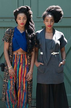 Chances are you've seen Cipriana (right) and her twin sister, TK Wonder, on some of your favorite street style blogs. The two have been dubbed fashion darlings for their extralong textured locks and eclectic ensembles. Source: Facebook user Urban Bush Babes
